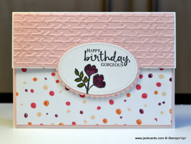 Janb Handmade Cards Atelier Double Fold Birthday Card Video