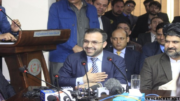 Atif Mashal Chairman of AFG Cricket Board
