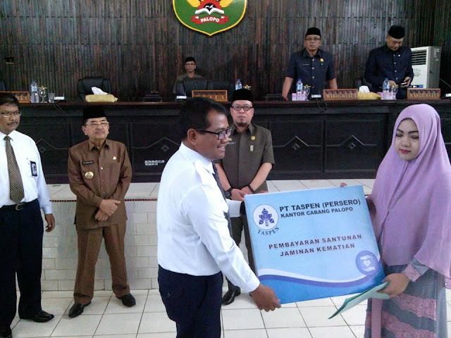 Usai Rapat Paripuna DPRD, Taspen Palopo Serahkan Santunan Andi Falsafah