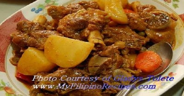 Filipino Goat Caldereta Recipe