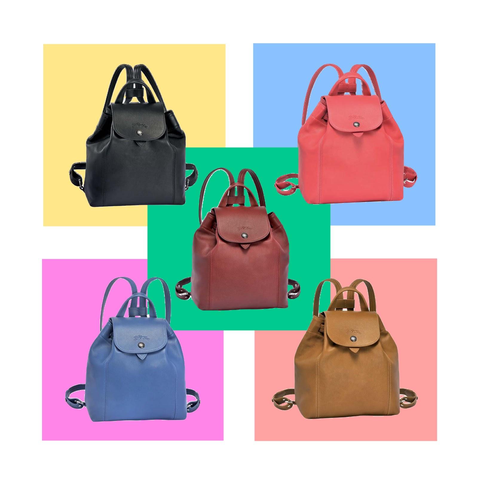 Longchamp Le Pliage Bag Designer Handbag Illustration Cocarde Crossbody Navy Cuir Backpack Xs