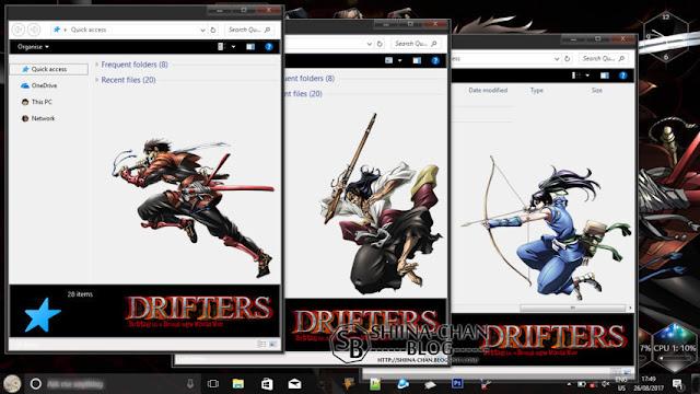 Windows 10 Ver. 1709 Theme DRIFTERS by Enji Riz
