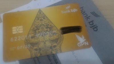 Kartu ATM/Debit Bank BJB berlogo GPN