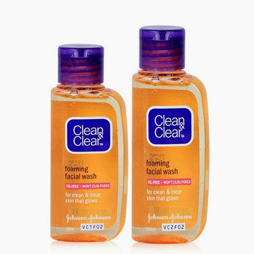 Clean and clear foaming facial wash คุมมันดี