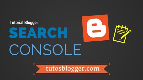 google search console blogger