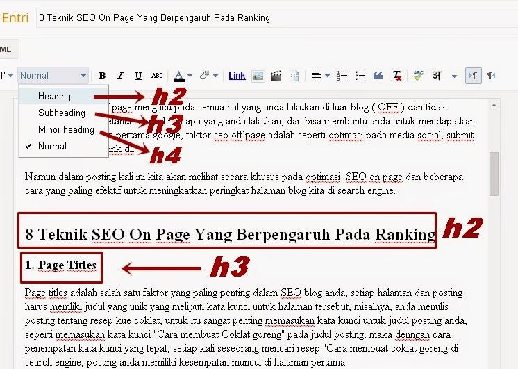 8 Teknik SEO On Page Yang Berpengaruh Pada Ranking