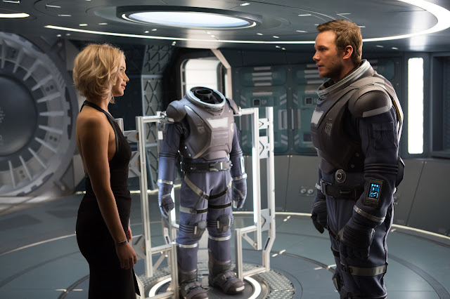 "Jennifer Lawrence and Chris Pratt in ""Passengers"""