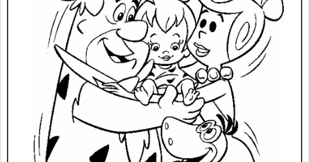 Riscos Para Colorir Gratis Familia Flintstones Colorir Vilma