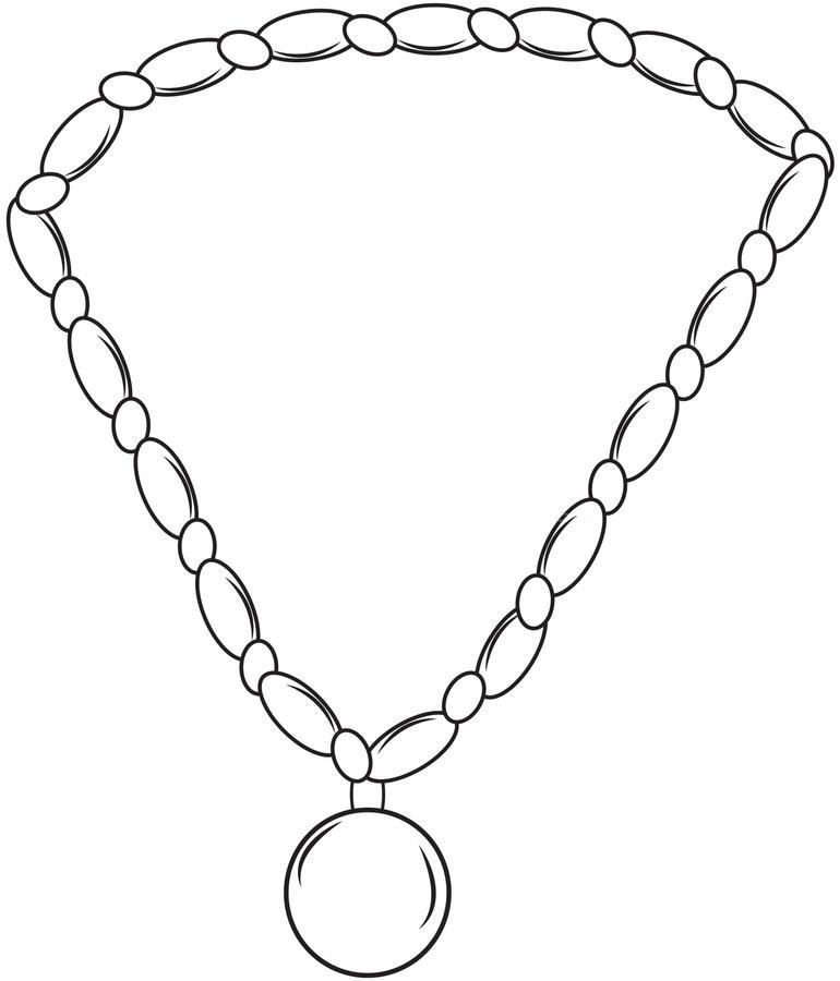 раскраска ожерелье распечатать сильном