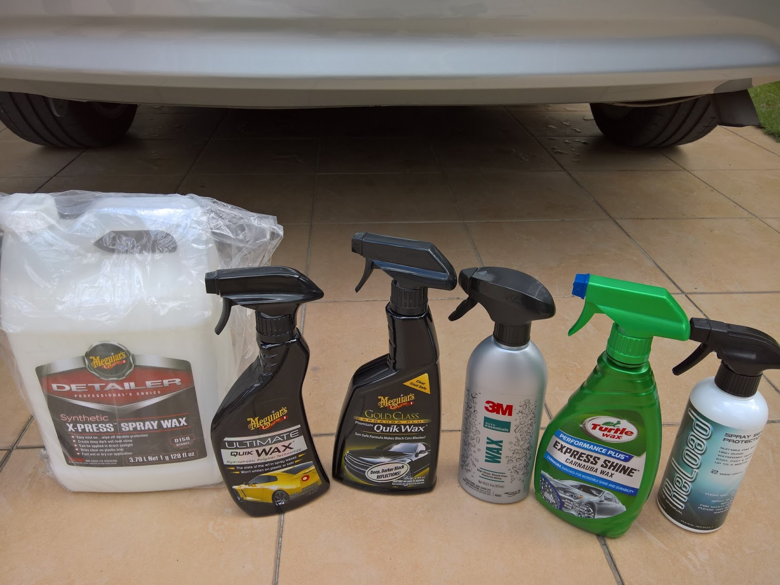 how to make car spray wax