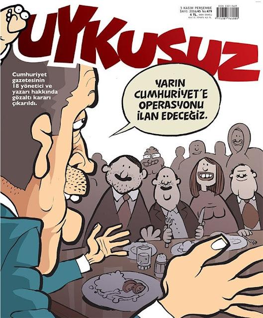 cumhuriyet gazetesi operasyon karikatür
