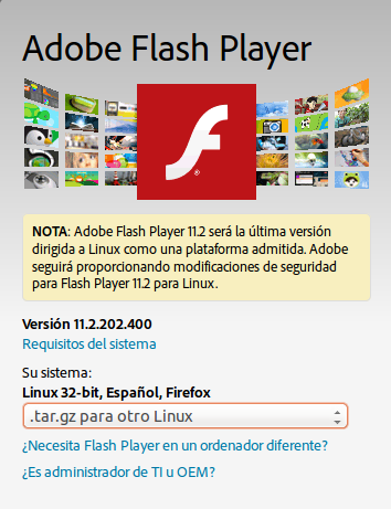 Flash Player para Ubuntu 18.04
