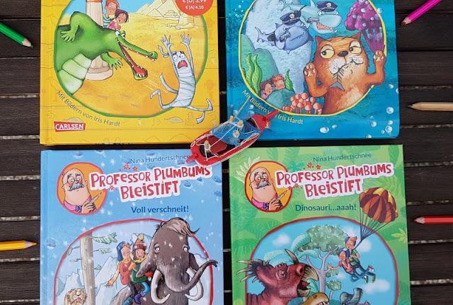 """Heute ein Buch! In der Welt der Phantasie unterwegs mit """"Professor Plumbums Bleistift"""" (+ Verlosung). Die Bücher von Nina Hundertschnee und Iris Hardt sind total spannend!"""