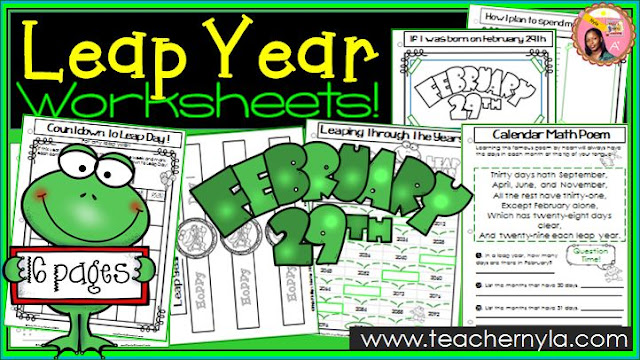 Leap Day Worksheets