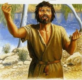 Resultado de imagem para imagem João Batista, que não comia pão nem bebia vinho, e vós dissestes: 'Ele está com um demônio!'Veio o Filho do Homem, que come e bebe, e vós dizeis