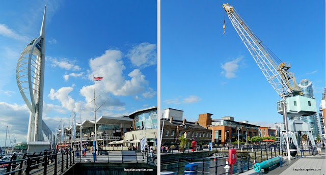 Gunwharf Quays e Spinnaker Tower, em Portsmouth