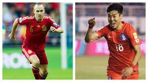 España vs Corea del Sur,, partido amistoso