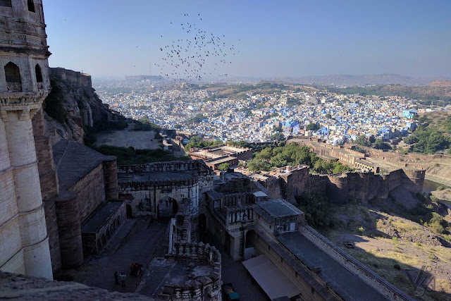 Birds eye view of the Blue city from Mehrangarh fort