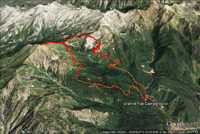 Box Elder Peak, Utah trail map