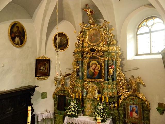 Sobin, kościół, barok, złocenia