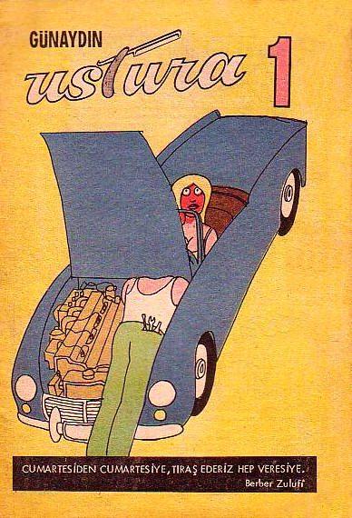 Ustura dergisi ilk kapak. (1969)