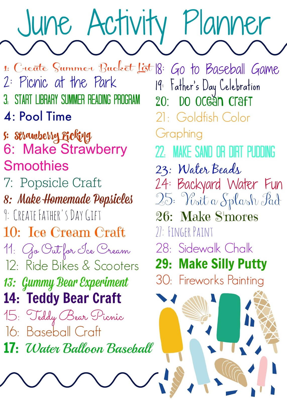 june activity planner for kids free printable the chirping moms