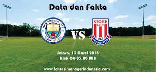 Data dan Fakta Fantasy Premier League GW 30 Stoke vs Manchester City Fantasi manager Indonesia