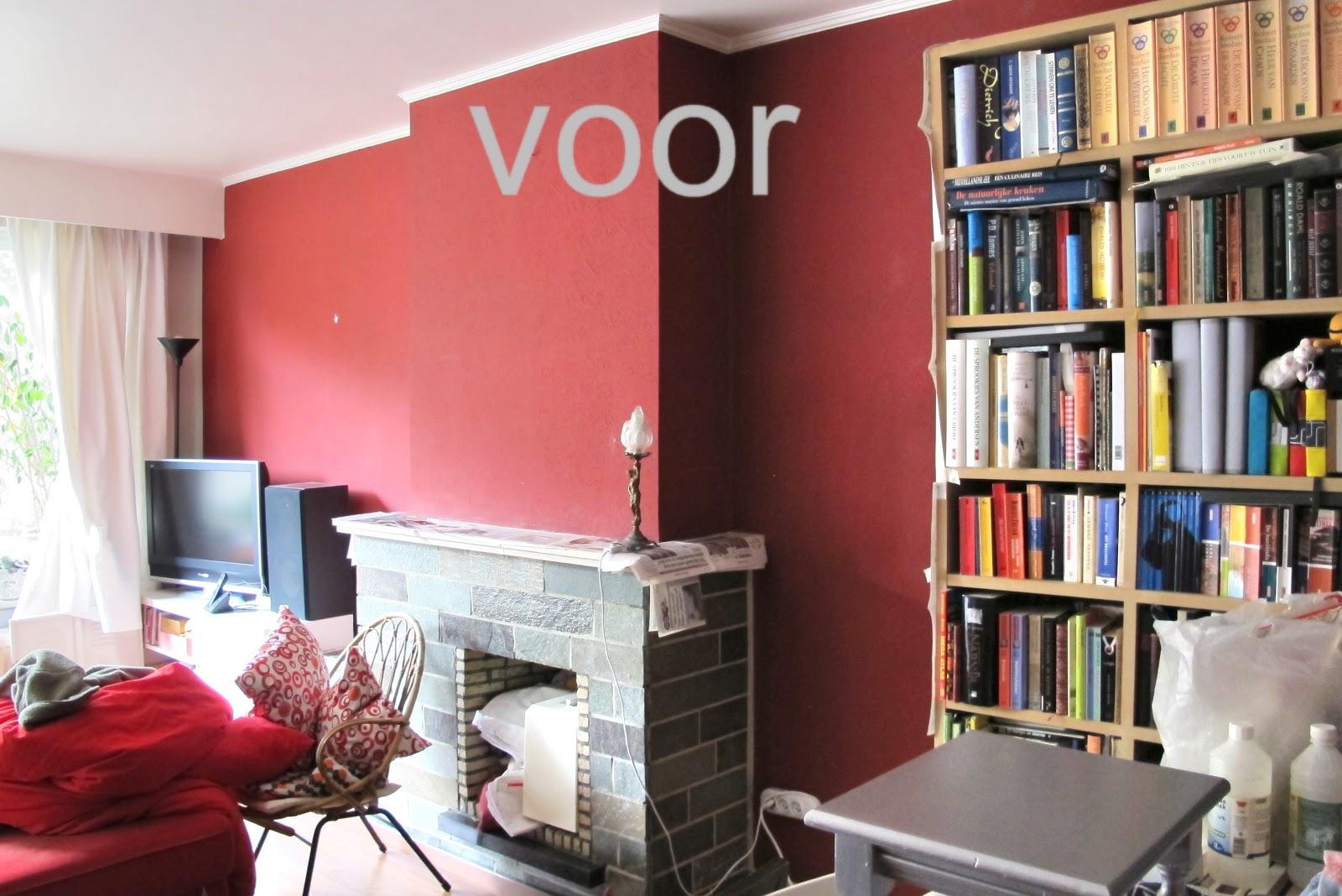 Moois van 39 m i e 39 verf - Grijze en rode muur ...