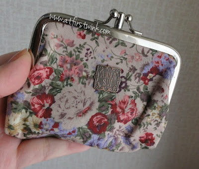 Anna Sui flowery coin purse