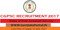 Chhattisgarh Public Service Commission Recruitment 2017– Assistant Director