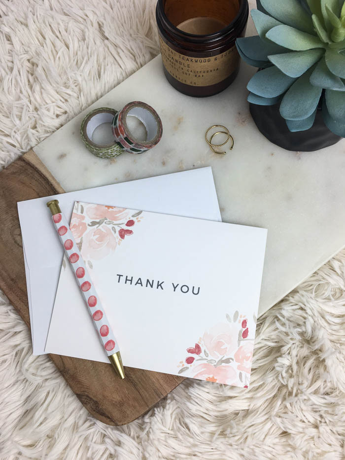 cute thank you cards