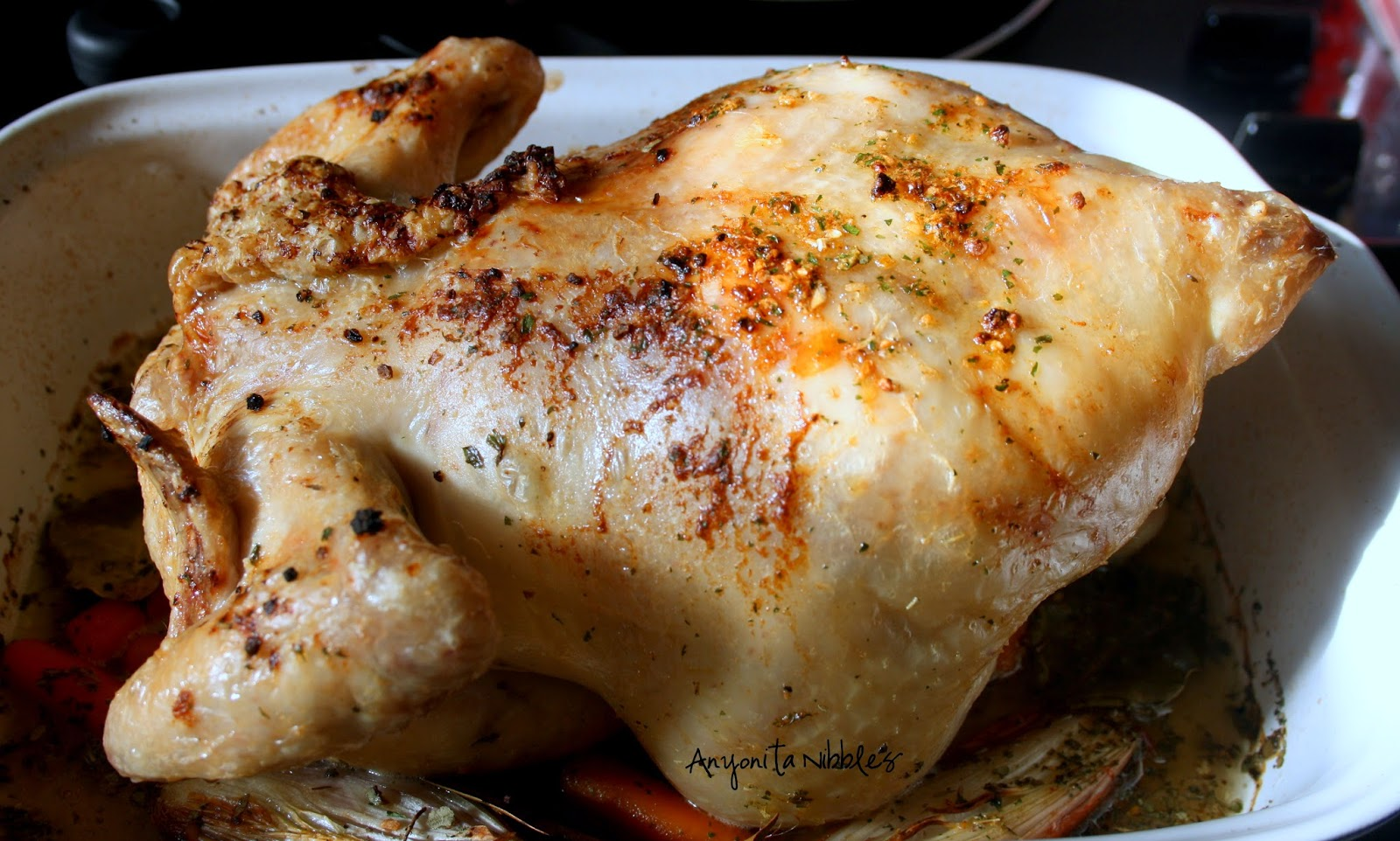 Partially cooked roast chicken | Anyonita Nibbles