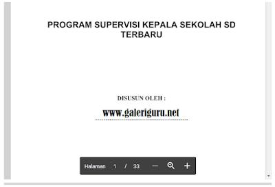 Download Program Kerja Supervisi Kepala Sekolah SD Terbaru