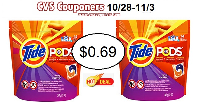 Tide $0.69 at cvs after coupons and offers