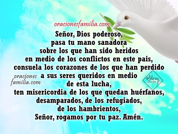 Oración corta por la paz del mundo, no mas guerras, imagenes con oraciones de paz de Dios por Mery Bracho.
