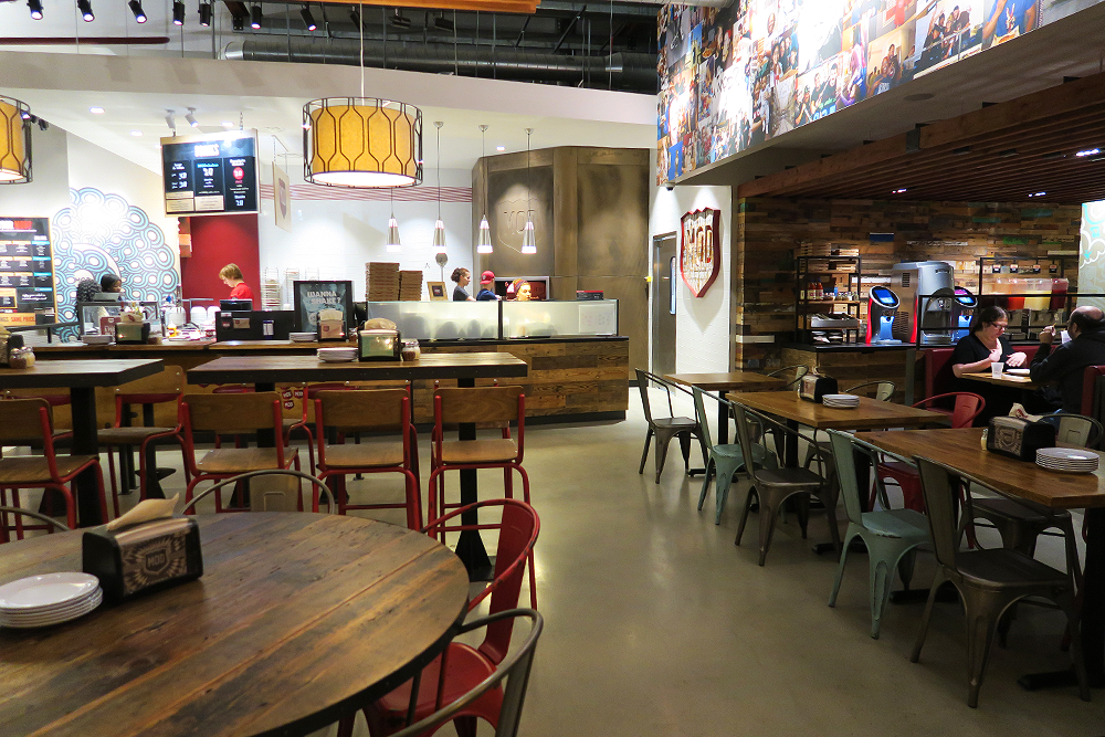 Interior of MOD Pizza Leeds