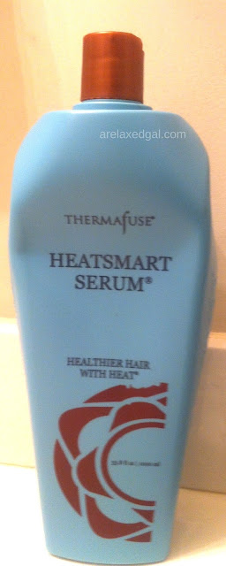 If you're looking for a salon level conditioner for curly, frizzy, dry or damaged hair Thermafuse's HeatSmart Serum Condition is one to consider for your relaxed hair. | arelaxedgal.com