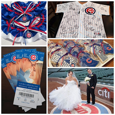 Chicago Cubs Wedding Inspiration by Sugarplum Garters