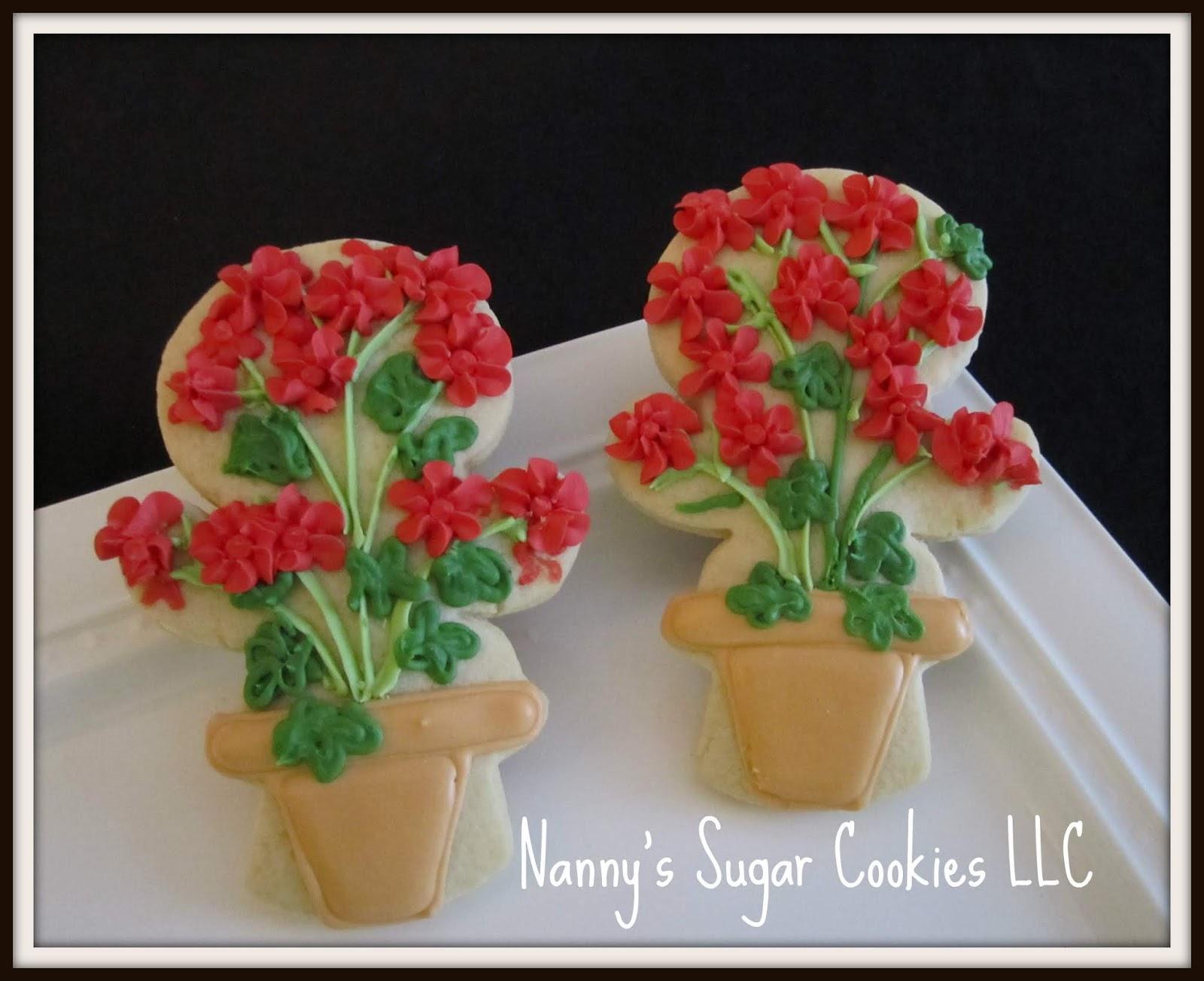 Nanny\u0027s Sugar Cookies LLC & Nanny\u0027s Sugar Cookies LLC: 2018 Flower pots and Bees...