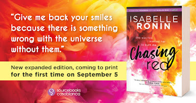 Win, Autographed, Isabelle Ronin, Chasing Red, Bea's Book Nook