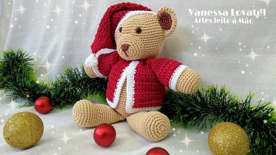 Amigurumi Teddy bear in pajamas Crochet pattern PDF. | Etsy | 540x960