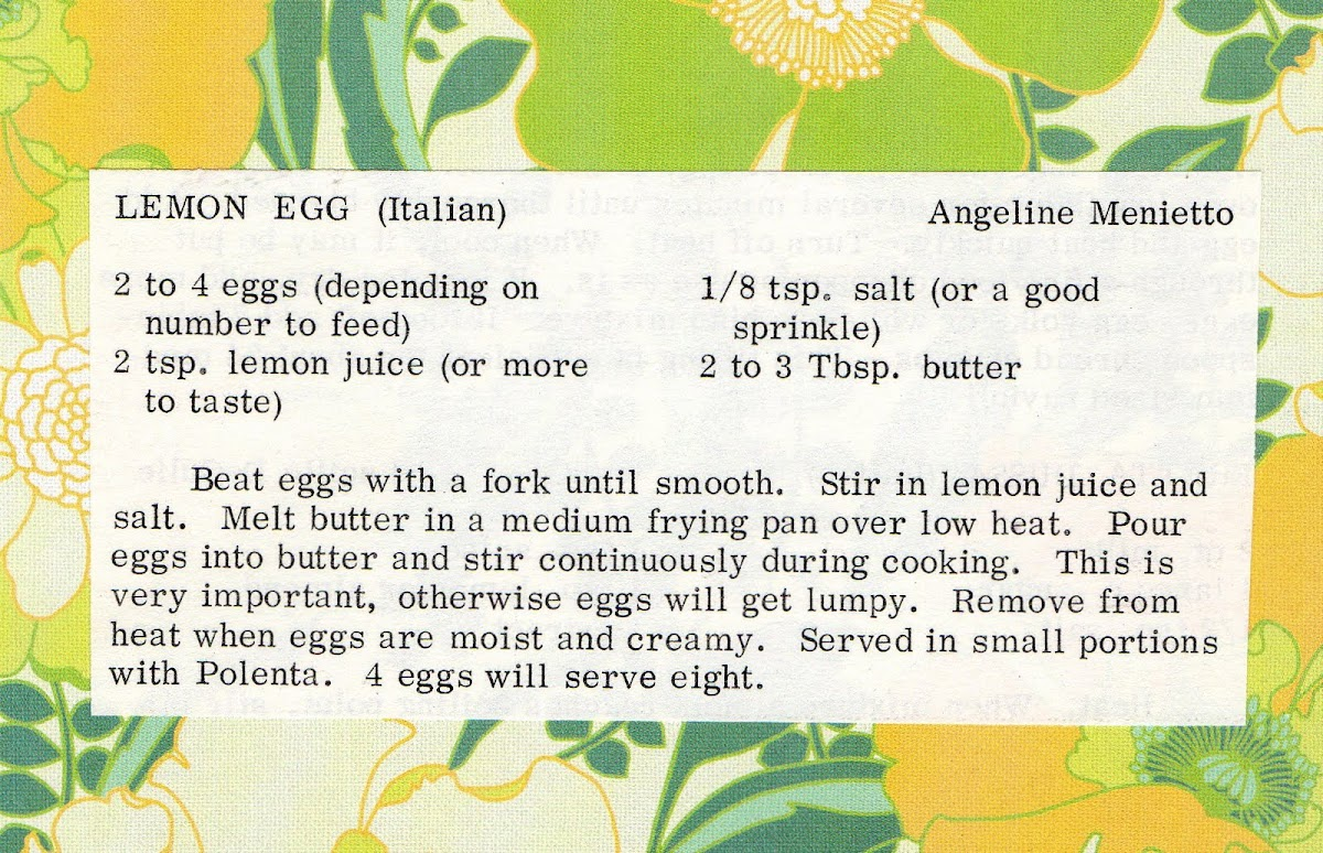 Lemon Egg (quick recipe)