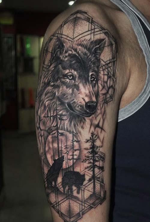 bozkurt kol dövmeleri erkek wolf arm tattoos for men 2