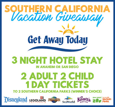 Enter to win a Southern California Vacation at artsyfartsymama.com