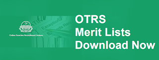 Final Merit List AEO/Educators 2018 OTRS Tentative Download - All Punjab Districts