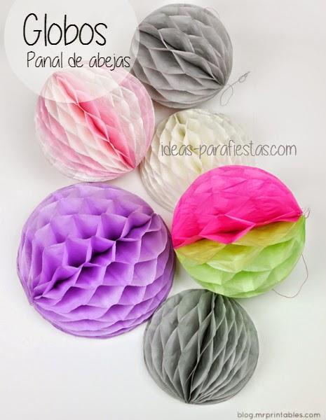 Paso a paso en fotos de manualidad para decorar fiesta globos de papel
