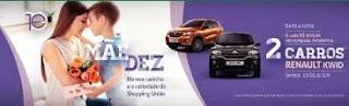 Promoção Shopping União Dia das Mães 2019 - Concorra 2 Carros Renault Kwid