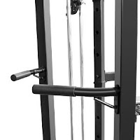 Integrated dip bars on Marcy Olympic Strength Cage