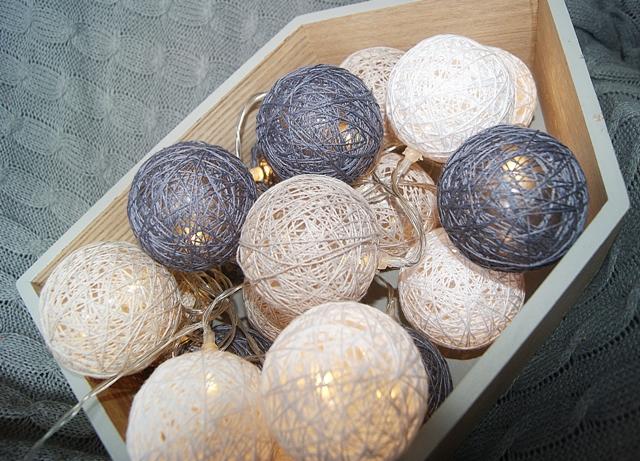 Moje Cotton Balls Z Biedronki Czyli Girlandy świetlne