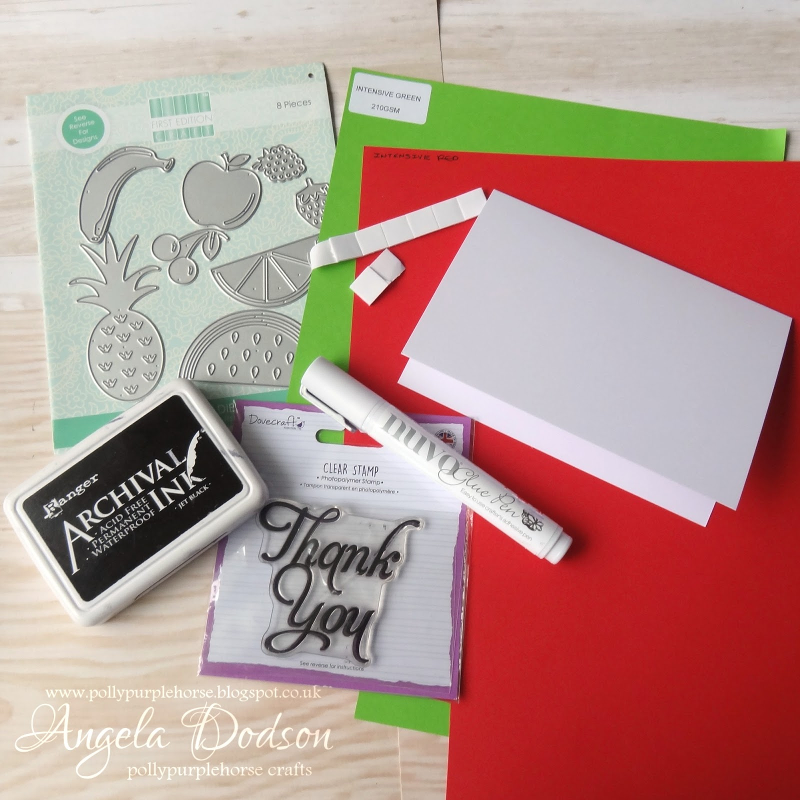 Pollypurplehorse Is Crafty Diy Thank You Cards Perfect For